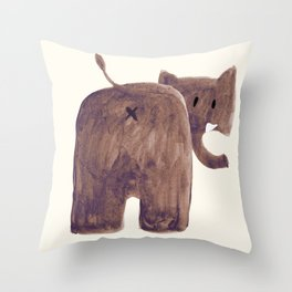 Elephant's butt Throw Pillow