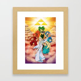Four Goddess of Hyrule Framed Art Print