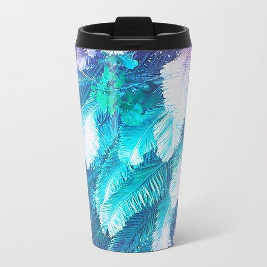 Rainbow Jungle Metal Travel Mug
