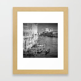 VENICE Canal Grande & Santa Maria della Salute   Monochrome Framed Art Print