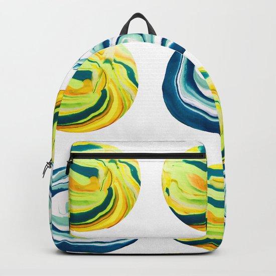 Marbling Tic Tac Toe Backpack