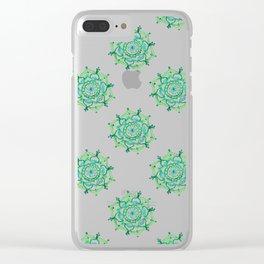 Greenery Mandala Clear iPhone Case