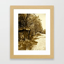 Old Train Stop in Denmark  Framed Art Print