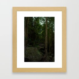 Poop Forest Framed Art Print