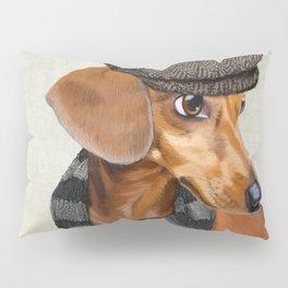 Elegant Mr. Dachshund Pillow Sham