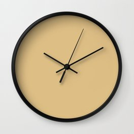 Golden Brown / Tan / Beige Solid Color Inspired Harpswell Green 3007 Wall Clock