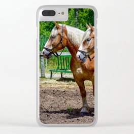"""Equine Duo"" Clear iPhone Case"