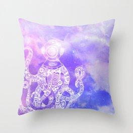 OctiMan Throw Pillow