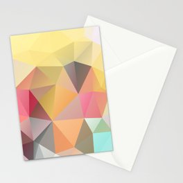 Polygon print bright colors Stationery Cards
