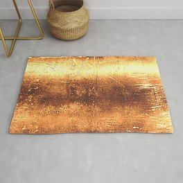 Metal Gold Colors Rug