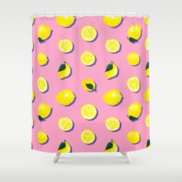Pink Lemon ~ 80's Pattern Shower Curtain
