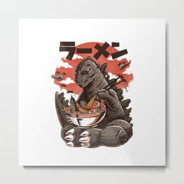 Kaiju's Ramen Metal Print