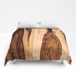 Sheesham Wood Grain Texture, Close Up Comforters