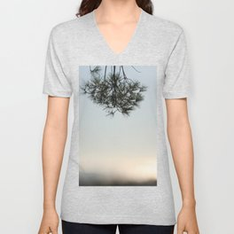 Pine tree trunk and branch Unisex V-Neck