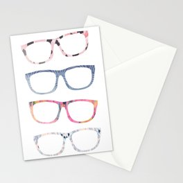 Bespectacled // Watercolor Glasses Print Stationery Cards