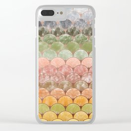 Watercolor art decó pattern Clear iPhone Case
