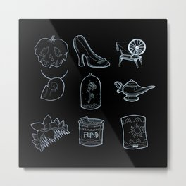 Happily Ever Afters in Black Metal Print