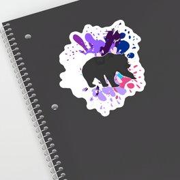 Splattered Paint Bear Sticker