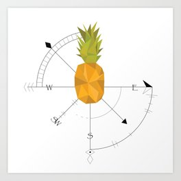 Pineapple Compass Art Print