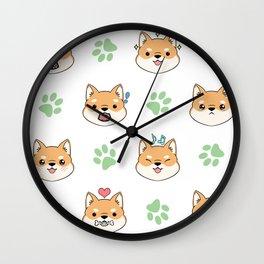 Chibi shiba's Wall Clock