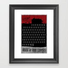 House of 1000 Corpses Framed Art Print