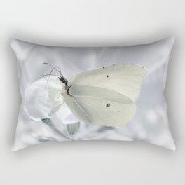 Butterfly White 80 Rectangular Pillow