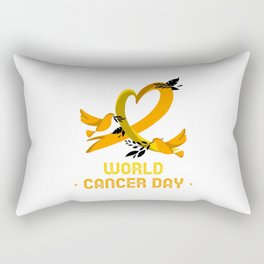 world cancer day with doves Rectangular Pillow