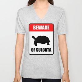 Beware of Sulcata Unisex V-Neck