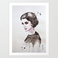 coco Art Prints featuring Coco  by Black Fury