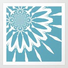 Riverside Blue Modern Flower Art Print