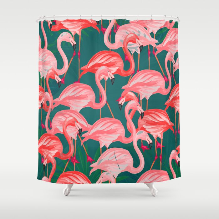 Flamingo Tropical Shower Curtain