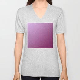 Light pink and Magenta purple Pink Gradient Unisex V-Neck