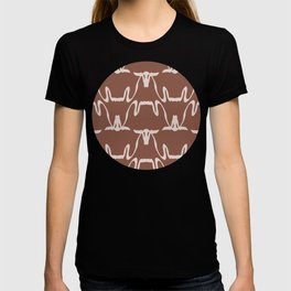 Abstract Cows Pattern T-shirt