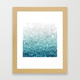 MERMAID GLITTER - MERMAIDIANS AQUA Framed Art Print