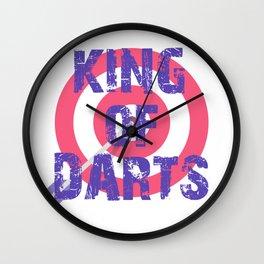 King of Darts Game Play society Sport arrow Wall Clock