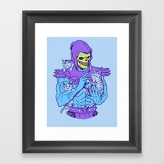 Masters of the Meowniverse Framed Art Print