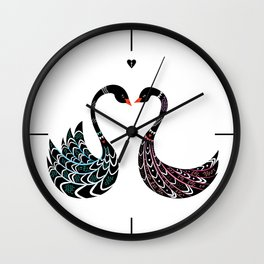 Black Swans Wall Clock
