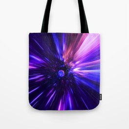 Interstellar, time travel and hyper jump in space Tote Bag