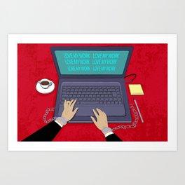 LOVE WORK Art Print