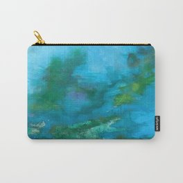 Light Blue Monet´s Theme of Waterlilies Carry-All Pouch