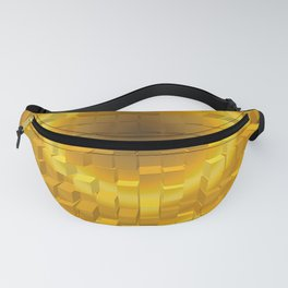 Abstract golden gradient texture. Fanny Pack