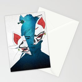 Fox Mask Stationery Cards