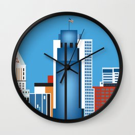 Cincinnati, Ohio - Skyline Illustration by Loose Petals Wall Clock