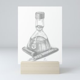 Bottled Ink and Fountain Pen Mini Art Print