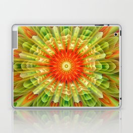 Abstract yellow orange luxury Mandala Laptop & iPad Skin