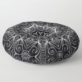 Drawing Floral Doodle G10 Floor Pillow
