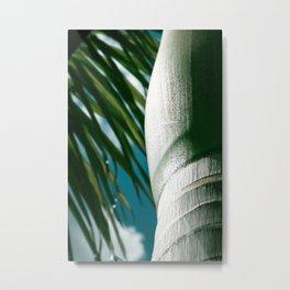 E Hawaii Aloha E Tropical Palm Metal Print