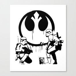 Banksy Troopers Canvas Print