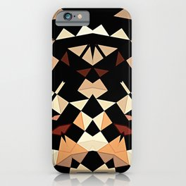 Patchwork Half Mandala Neutral Tones iPhone Case