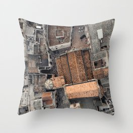 Ostuni, the white city, cathedreal, aerial photography, Puglia, southern Italy Throw Pillow